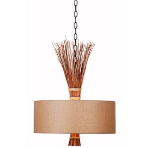 Sheaf Oil Rubbed Bronze Three-Light Pendant