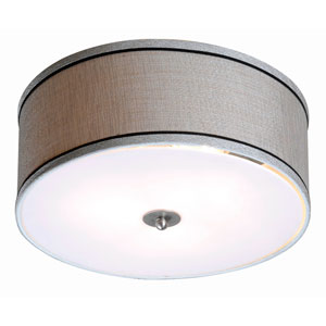 Margot Brushed Steel One-Light Flushmount