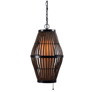 Biscayne Black Single Light Outdoor Pendant