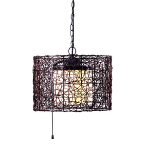 Tanglewood Black Single Light Outdoor Pendant