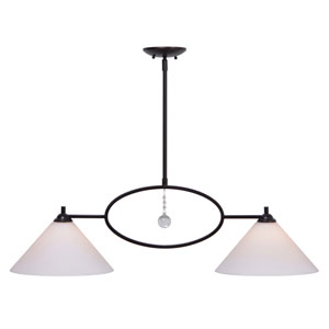 Ollie Oil Rubbed Bronze Two-Light Island Pendant
