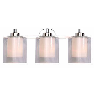Orienta Chrome Three-Light Bath Fixture