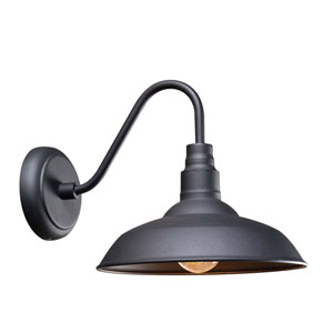 Dale Black One-Light  Wall Lantern