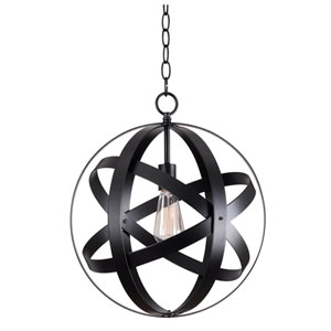 Global Black One-Light Pendant