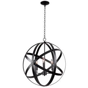 Global Black Three-Light Pendant