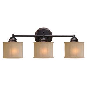 Barney Oil Rubbed Bronze Three-Light Vanity
