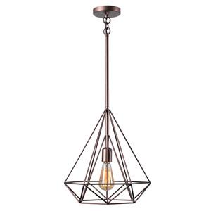 Pyramid Vintage Copper One-Light Pendant