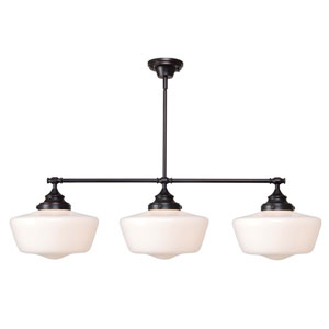 Cambridge Oil Rubbed Bronze Three-Light Island Pendant