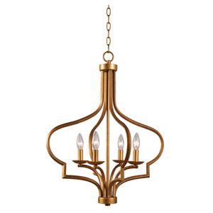 Morocco Light Gold Four-Light Chandelier