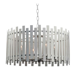 Picket White 20-Inch Four-Light Pendant