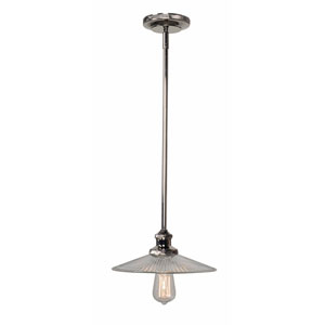 Ancestry Polished Nickel 5-Inch One-Light Small Pendant