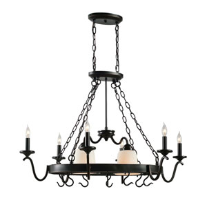 Carman Oil Rubbed Bronze Eight-Light Pot Rack