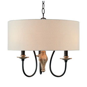 Lisbeth Weathered White 18-Inch Three-Light Pendant