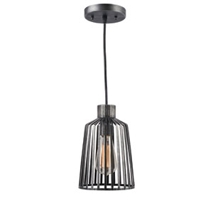Coop Aged Metal 6-Inch One-Light Mini Pendant