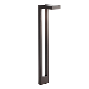 Textured Architectural Bronze 22-inch One-Light Outdoor Path Light
