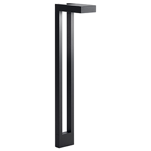 Textured Black 22-inch One-Light Outdoor Path Light