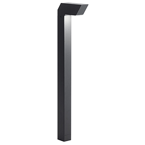 Textured Black 22-Inch One-Light Tall Outdoor Path Light