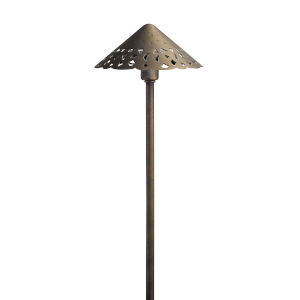 Centennial Brass 22-Inch 3000K Three-Light LED Hammered Roof Path Light