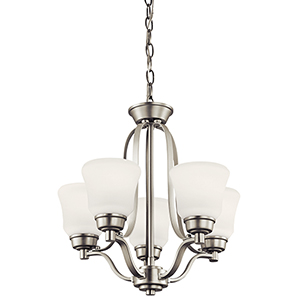 Langford Brushed Nickel 16-Inch Five-Light Energy Star LED Chandelier