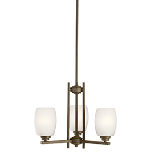 Eileen Olde Bronze Three-Light Energy Star LED Chandelier