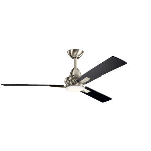 Kosmus Brushed Stainless Steel 52-Inch LED Ceiling Fan