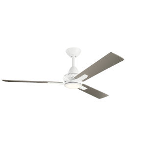 Kosmus Matte White 52-Inch LED Ceiling Fan