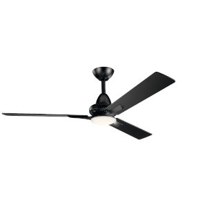 Kosmus Satin Black 52-Inch LED Ceiling Fan