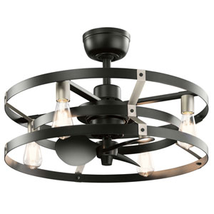Cavelli Satin Black 25-Inch Ceiling Fan