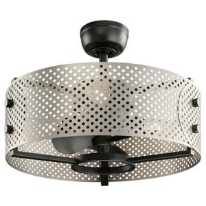 Eyrie Satin Black 23-Inch Ceiling Fan