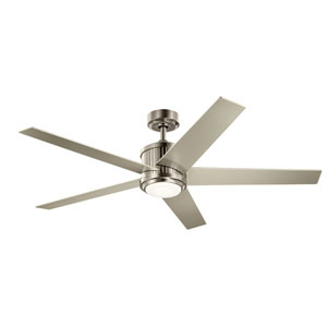 Brushed Stainless Steel 56-Inch LED Ceiling Fan