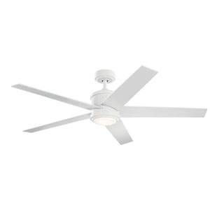 Matte White 56-Inch LED Ceiling Fan