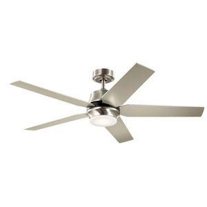Brushed Stainless Steel 52-Inch LED Ceiling Fan