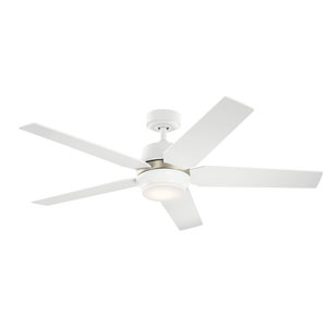 Matte White 52-Inch LED Ceiling Fan