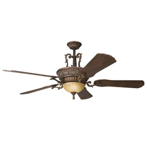 Kimberley Berkshire Bronze 60-Inch Three-Light LED Ceiling Fan