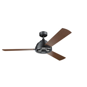 Pinion Distressed Black 60-Inch Ceiling Fan