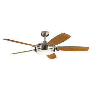 Trevor Brushed Stainless Steel LED Ceiling Fan