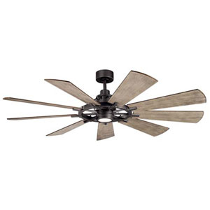 Gentry Anvil Iron LED 65-Inch Ceiling Fan