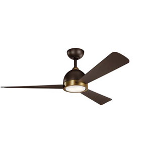 Incus Satin Natural Bronze LED 56-Inch Ceiling Fan