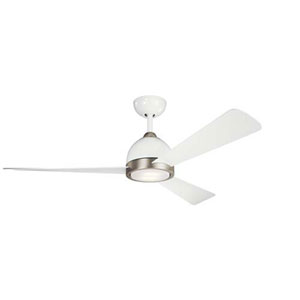Incus White LED 56-Inch Ceiling Fan
