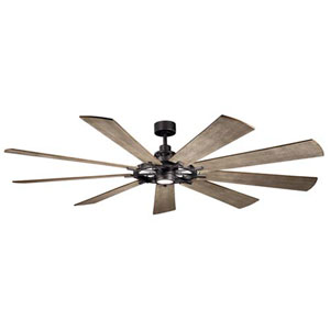 Gentry Anvil Iron LED 85-Inch Ceiling Fan