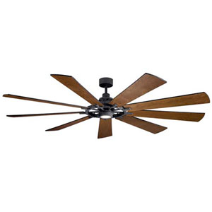 Gentry Distressed Black LED 85-Inch Ceiling Fan