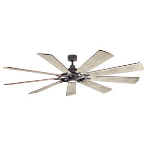 Gentry Weathered Zinc LED 85-Inch Ceiling Fan