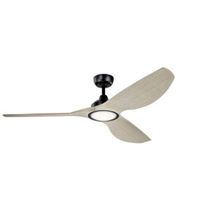 Imari Satin Black LED 65-Inch Ceiling Fan