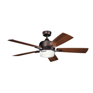 Leeds Oil Brushed Bronze LED Ceiling Fan