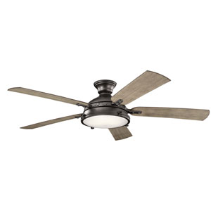 Hatteras Bay Anvil Iron 60-Inch LED Ceiling Fan