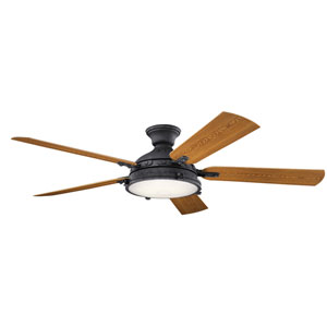 Hatteras Bay Distressed Black 60-Inch LED Ceiling Fan