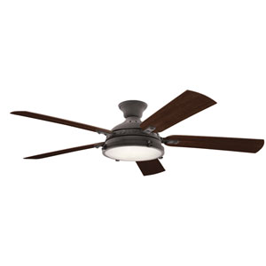 Hatteras Bay Weathered Zinc 60-Inch LED Ceiling Fan