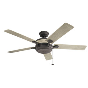 Uma Weathered Zinc Ceiling Fan
