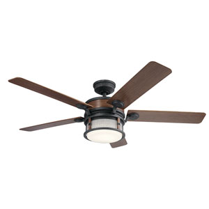 Ahrendale Auburn Stained Finish LED Ceiling Fan