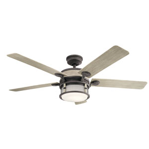 Ahrendale Weathered Zinc LED Ceiling Fan